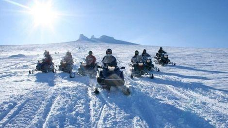 Northern Lights Golden Circle and Snowmobiling