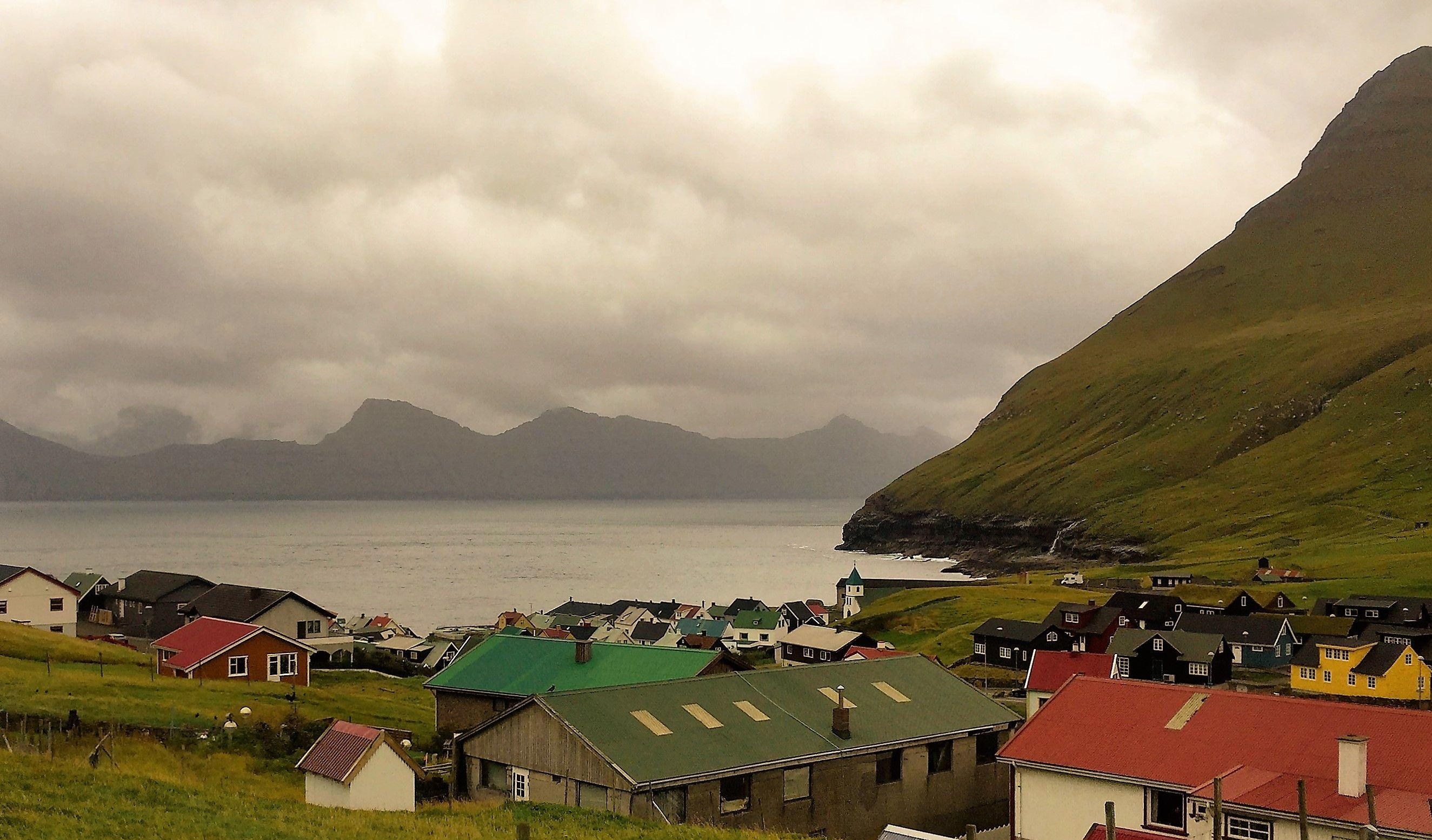 view from guesthouse gjáargarður of gjógv village 1